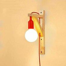 Lighting (Color : RED) bedroom Bedside lamp