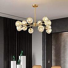 Lighting Crystal Sputnik Chandelier, Gold Modern