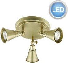 Lighting EDO7675 Antique Brass 3 Light LED