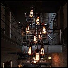 Lighting Fixture Retro Lights Spiral Staircase