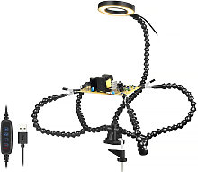 Lighting LED 3X Magnifying Lamp with Clamp Hands