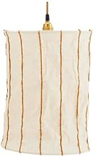 Lighting - Off White Sugar Almond Striped Linen