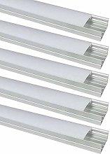 LightingWill 10-Pack U-Shape LED Aluminum Channel