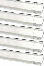 LightingWill 5 Pack 3.3Ft/1M LED Clear Cover