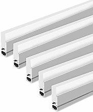 LightingWill 5Pack 3.3ft/1M LED Crystal Aluminum