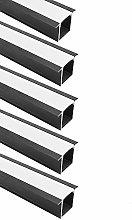 LightingWill U Shape LED Aluminum Profile 5-Pack
