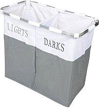 Lights and Dark Folding Laudry Basket Hamper