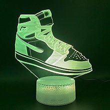 Lights Jordan Sneaker Air Force Home Decor Bright