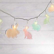 Lights4fun 12 LED Pastel Bunny String Lights