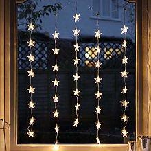 Lights4fun 2 x Set Deal of Indoor Star Curtain