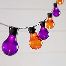 Lights4fun 20 Halloween LED Festoon Lights Orange