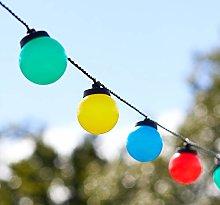 Lights4fun 30 LED Multicoloured Festoon Party