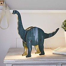 Lights4fun 3D Wooden Dinosaur Diplodocus Table