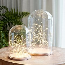 Lights4fun Glass Bell Duo with Micro Lights