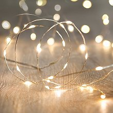 Lights4fun Indoor Fairy Lights with 100 Warm White