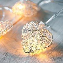 Lights4fun Indoor Metal Mesh Heart Plug in Fairy