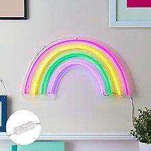 Lights4fun Neon Sign Rainbow Wall Light