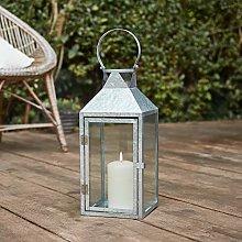 Lights4fun Outdoor Medium Galvanised Lantern with