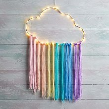 Lights4fun Rainbow Cloud Dream Catcher LED Wall