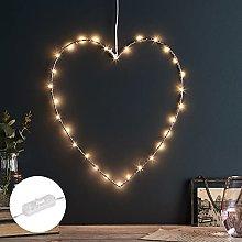 Lights4fun Rose Gold Micro LED Metal Heart Light