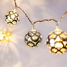 Lights4fun Silver Ball Indoor Fairy Lights with 16