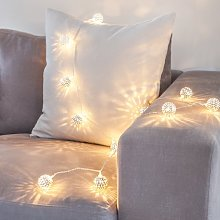 Lights4fun Silver Tangier Indoor Fairy Lights with