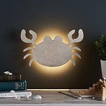 Lights4fun Wooden Crab Bedroom LED Wall Light