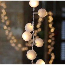 Lightstyle London - Pom Pom Light String In White