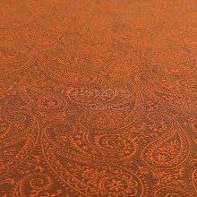 Lightweight Detailed Paisley Pattern Brown Bronze