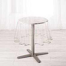 Ligne Decor Round Tablecloth (0) 180 Plain Crystal