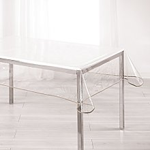Ligne Decor Tablecloth 140X240 Plain Crystal