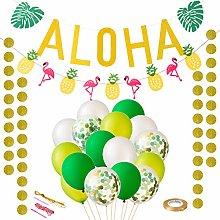 LIHAO Hawaiian Party Decoration Tropical Party