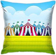 lihuang Throw Pillows Circus Tent at A County Fair