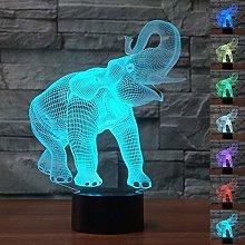 Lil Elephant Light for Children 3D Illusion Night