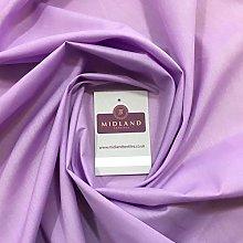 Lilac Plain Polycotton Fabric - Lilac 10 - Dress