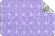 Lilac Plus Pattern Non Slip Play Mat Area Rug for