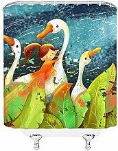 LILANG Shower Curtain 3D Waterproof Comic Girl