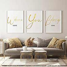 LILHXIU 3 Piece Entryway Sign Quote Art Print