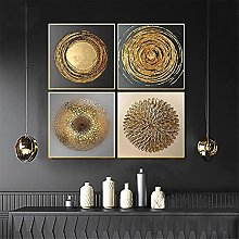 LILHXIU Abstract Gold Poster Nordic Canvas Art