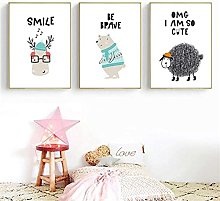LILHXIU Cartoon Animal Modern Style Poster Picture