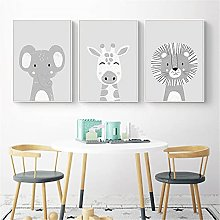 LILHXIU Cartoon Animal Wall Canvas Print Nordic
