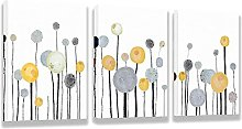 LILHXIU Dandelion Flowers Wall art Abstract Floral