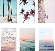 LILHXIU Sunset Ocean Landscape Canvas Poster Print