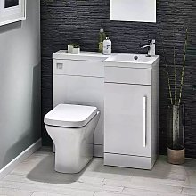 Lili Bathroom Furniture Pack with Basin and Toilet