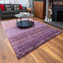 Lilic Purple Thick Warm Shaggy Shag Area Rug
