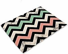 LILICEN 1Pcs Cotton Linen Colorful Geometric