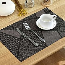 LILICEN 6Pcs Europe Style Placemat Waterproof