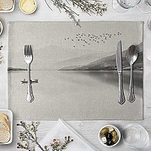 LILICEN Mountain Placemat for Dining Table Coaster