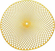 LILICEN Table Mats Coasters Pad Round PVC Placemat
