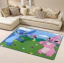 Lilo Stitch Flower Area Rug Floor Rugs Living Room